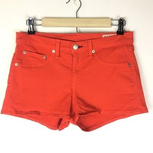 "rag & bone Cherry Red Denim Shorts 1.75"" Inseam"